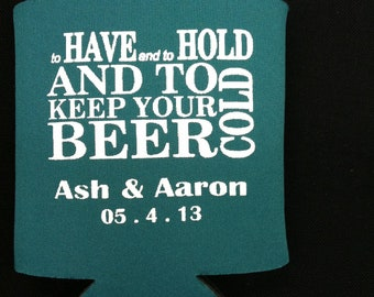 WEDDING FAVOR : Custom Can Holder 50