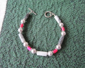 Gemstone Braclet to match Maroon Pendant Necklace