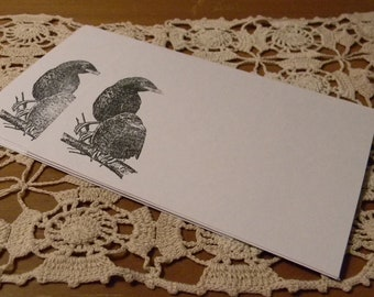 Black Crow Raven Blank Note Cards