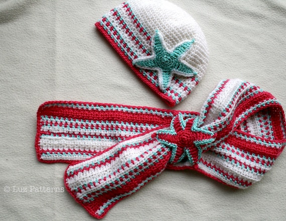 Crochet Pattern For Baby Hat And Scarf : Crochet pattern hat and scarf crochet pattern baby by ...