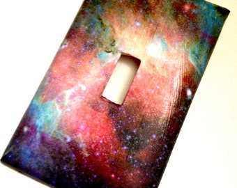 single light switch plate cover galaxy space galaxy decor galaxy decoration - Decorative Light Switch Covers