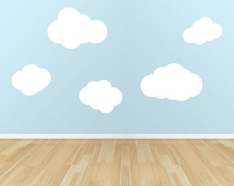 """Clouds Vinyl Wall Decal Set of 6.............Your choice of color"""""""