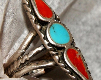 OLD PAWN DISHTA Ring Sterling Size 6 c1960