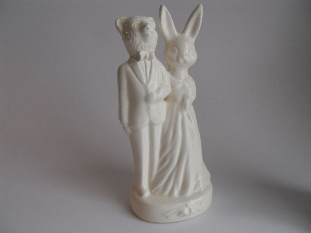 Bear And Bunny Wedding Cake Topper