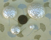 Vintage Faux Baroque Pearl Lucite Acrylic Flatback Cabochon in Four Sizes