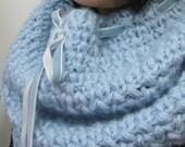 Hand knitting Beautiful  blue scarf, Christmas, Gift Ideas