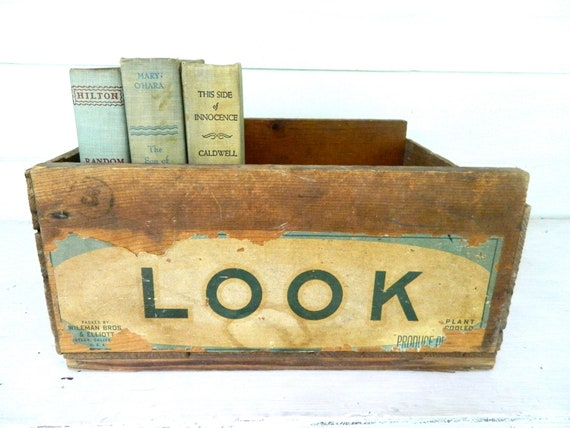 Vintage Wooden Crate Box Shabby Chic