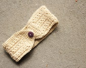 CLEARANCE Kids CREAM Crochet Heaband