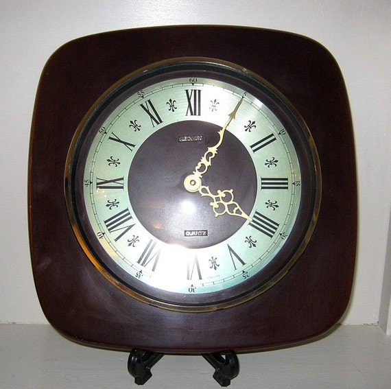 horloge murale de metamec vintage batterie. Black Bedroom Furniture Sets. Home Design Ideas