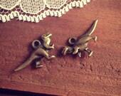 5 Pcs Dinosaur Charms Antique Bronze T-Rex Charm Small Charm Jewelry Supplies (B048)