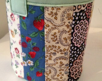 Carry All Bag - Patchwork Pail - Sewing Scrap hold all - Carry All Basket - Childrens Carry Pot - Scrap Carry All - Patchwork Hold All