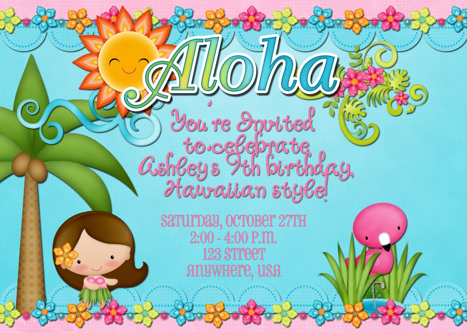 Luau Birthday Party Invitations for your inspiration to make invitation template look beautiful