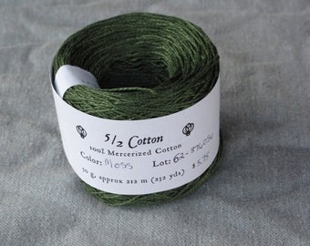 Moss Green 5/2 Mercerized Cotton