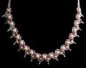 "Beadwork Necklace  ""Sweethearts"""