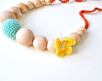 Butterfly Nursing Necklace/Teething Necklaceby SimplyaCircle-Breastfeeding Necklace-Eco-Friendly-Mother's day