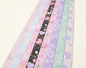 Pastel Sweet Hearts Origami Lucky Star Paper Strips Star Folding DIY - Pack of 160 Strips