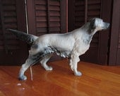Cast Iron Doorstop Dog Enamel Needs a home for the Holidays