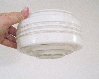 Vintage glass light globes.  White and clear.