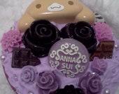 Kawaii Purple Cinnamoroll Compact Mirror