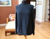 Women's Vintage Black Baggy Sweater