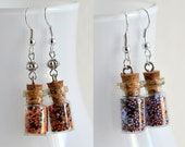 Halloween Sprinkles - Tiny Glass Jar Earrings