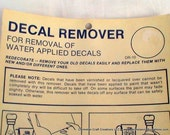 Vintage Decal Remover