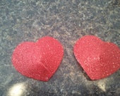 Sparkly Heart Pasties Burlesque Pinup Lingerie