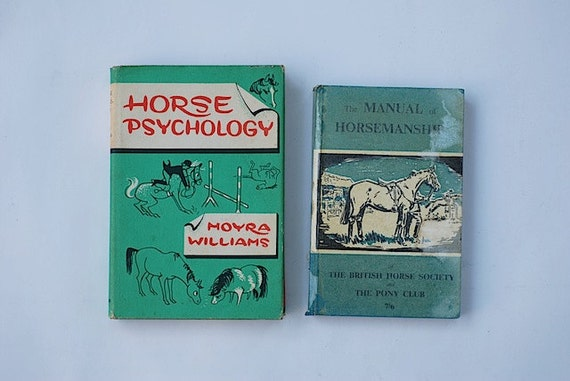Horse Books, Children's Books, Home Decor, GIft For Daughter, Equestrian Gift, Horse Psychology, Vintage Mid Century Book Bundle, Autumn