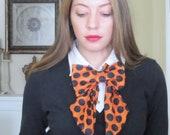 Fall Edition Women Polka Dot Necktie