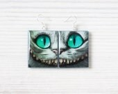 Alice in Wonderland - Cheshire cat Double Sided Earrings
