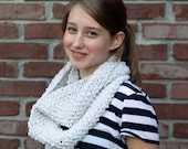 Snowbaby - White Hand Knitted Loop Scarf