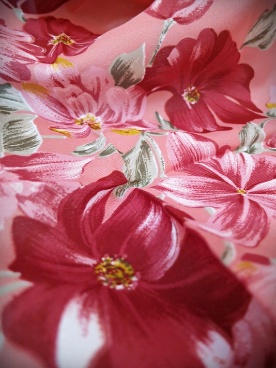 Vintage designer scarf by Valentina Fiore scarf made in Italy Floral mauve print scarf
