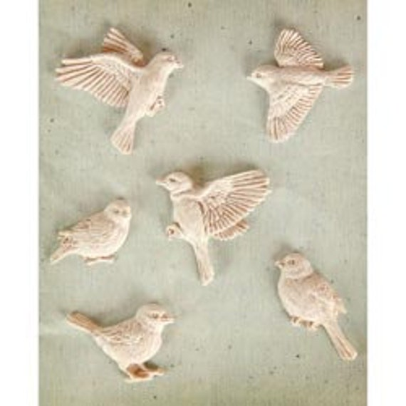 in STOCK Prima FLY Away Shabby Chic Resin Treasures - just released cha summer 2012