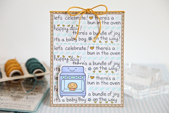 Baby Announcement, Pregnancy Announcement, Baby on the way, Baby Shower, Single Card