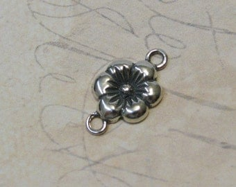 Sterling Silver Flower Link - 12 x 10mm