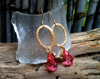 Jayne Earrings / Hoops & Crystals