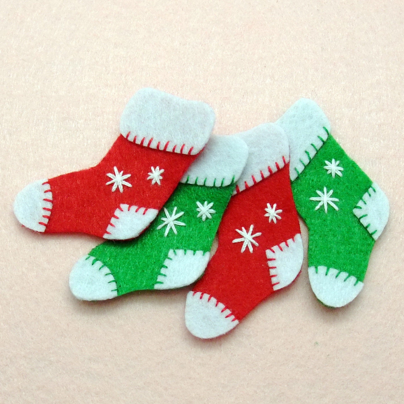 4 Pcs Handmade Christmas Stockings Felt By Silverbreezebag