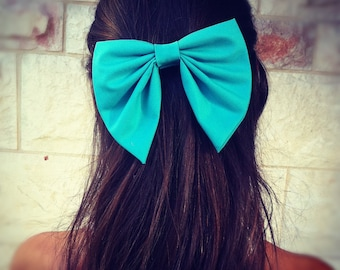 items similar to big light pink hair bow s n 008 on etsy