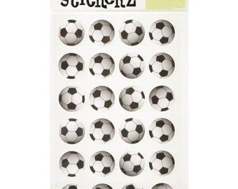 72 Soccer Ball Stickers
