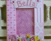 Princess Picture Frame Crown Pink Little Girl