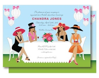 African American Bridal Shower Invitation, Garden Birthday Party Invitations, Printable or Printable