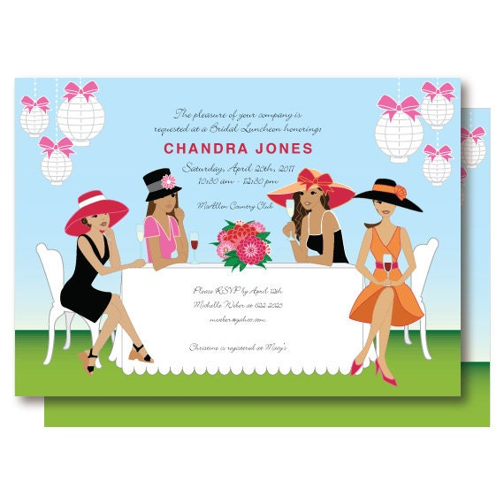 Similiar Womens Tea Invitation Designs Keywords – Ladies Tea Party Invitations