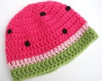 Crochet Watermelon Hat SALE