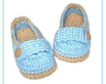 Little Baby Boy Crochet Loafer Slipper Shoes