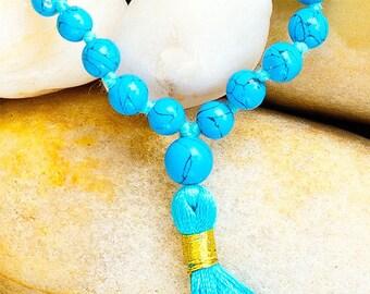 Turquoise Mala 108 Beads - Energy Healing