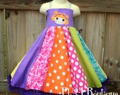 Girls Loopsy Inspired Twirl Dress with Applique Bodice --- Any Doll - Your Choice --- all sizes 12mos to 6/6x