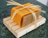 WINTER SOLSTICE SALE. Pumpkin Spice Soap Gift Set - includes big 5 oz bar and Pine Soap Holder
