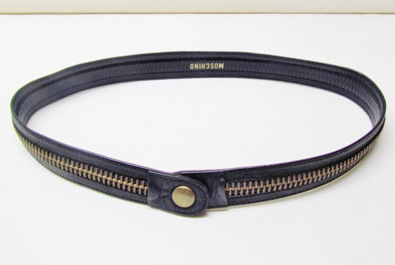 RESERVED FOR LEAH - Vintage Moschino belt extra-small 1980's Moschino designer belt