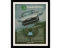 1981 PORSCHE 924 Car Ad, Vintage Advertising Wall Art Decor Print