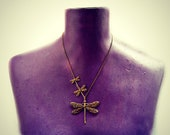 dragonfly necklace, dragonfly jewelry, cute necklace, woodland necklace, insect necklace